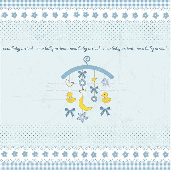 welcome baby announcement card Stock photo © balasoiu