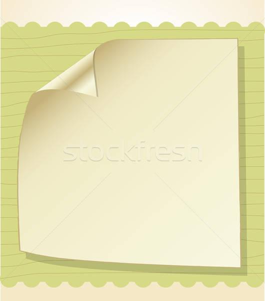 Template frame design for greeting card Stock photo © balasoiu