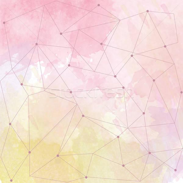 watercolor background with triangle design Stock photo © balasoiu