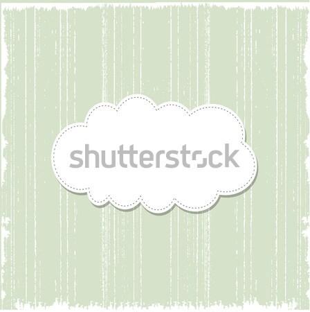 Sjabloon frame ontwerp wenskaart bruiloft verjaardag Stockfoto © balasoiu