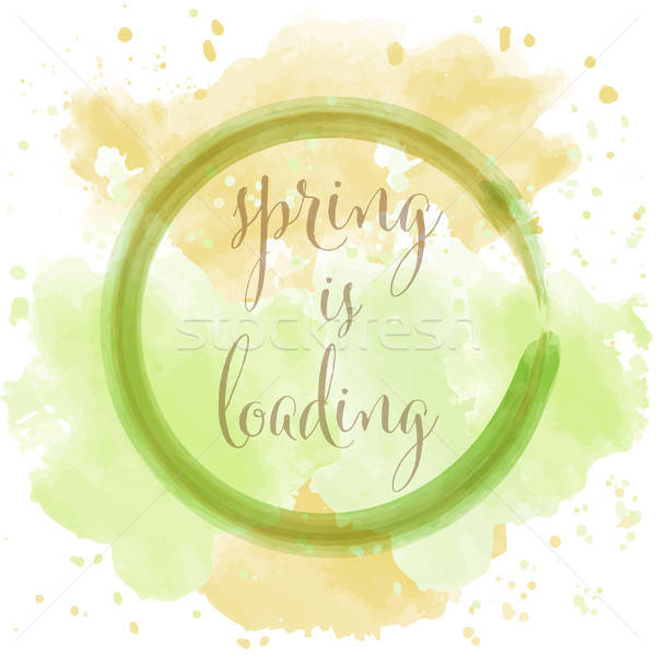 'spring is loading', beautiful watercolor spring background Stock photo © balasoiu