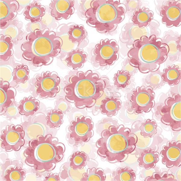 Güzel pembe çiçek eps 10 vektör çiçek Stok fotoğraf © balasoiu