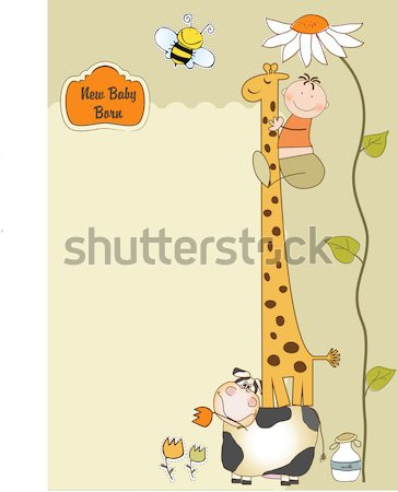 funny cartoon birthday greeting card Stock photo © balasoiu