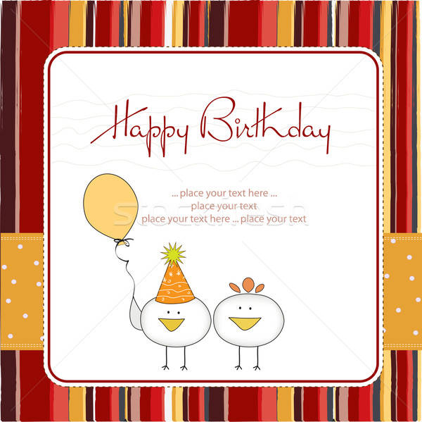 funny birthday party greeting card Stock photo © balasoiu