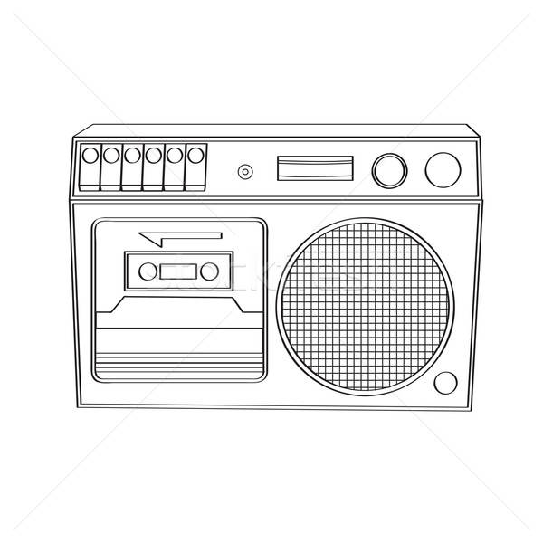 Vintage boom-box isolated on white background Stock photo © balasoiu