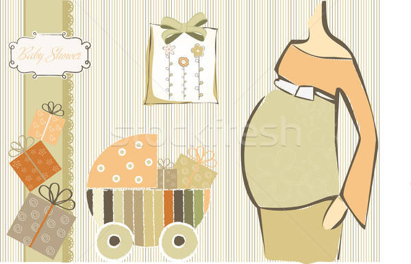 baby shower invitation Stock photo © balasoiu