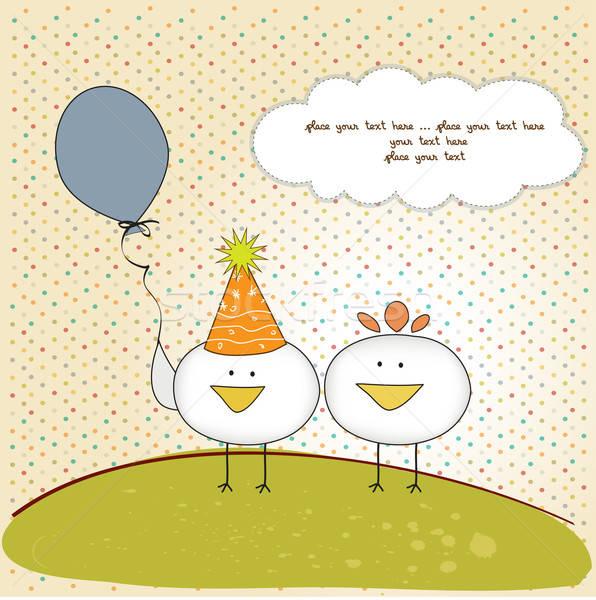 С днем рождения курочка открытка
