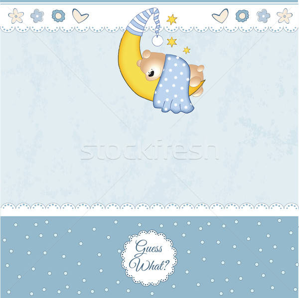 baby shower card Stock photo © balasoiu