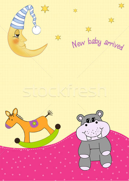 Stock photo:  baby announcement card