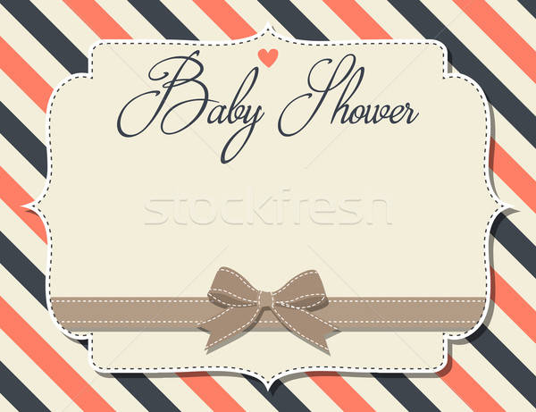 customizable baby shower invitation in retro style Stock photo © balasoiu