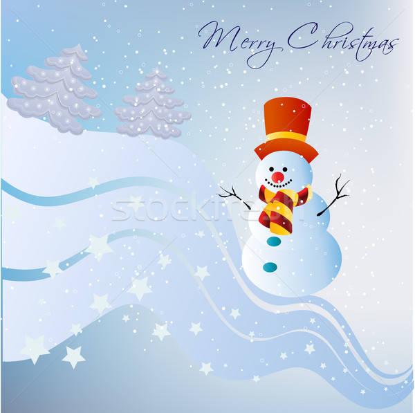 Snowman Stock photo © balasoiu