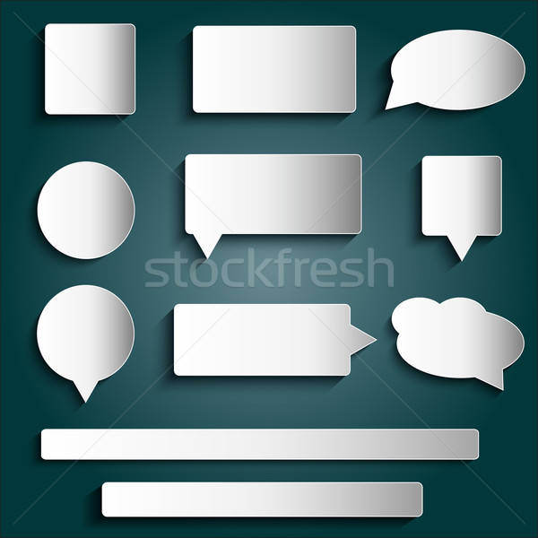 Projeto elementos botões adesivos Foto stock © balasoiu