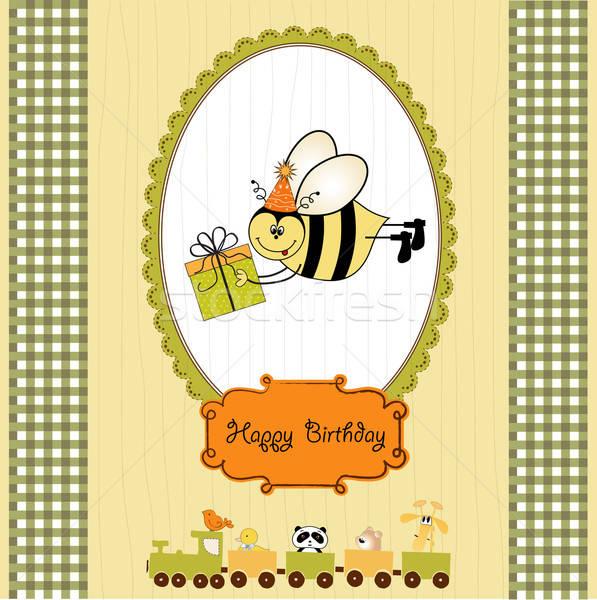 Arı kız bebek sevmek mutlu Stok fotoğraf © balasoiu