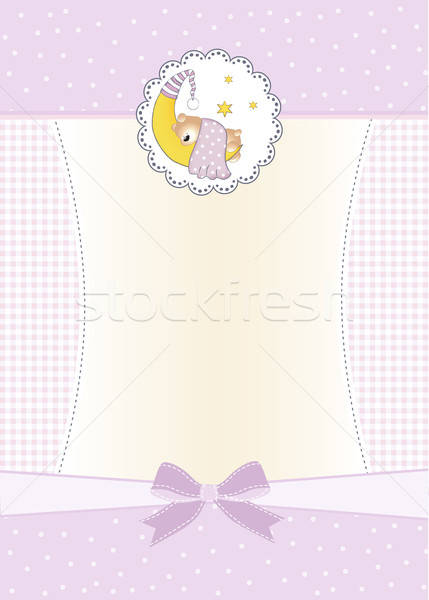 Stock photo: welcome new baby girl