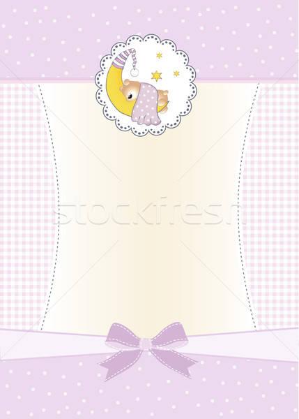 welcome new baby girl Stock photo © balasoiu