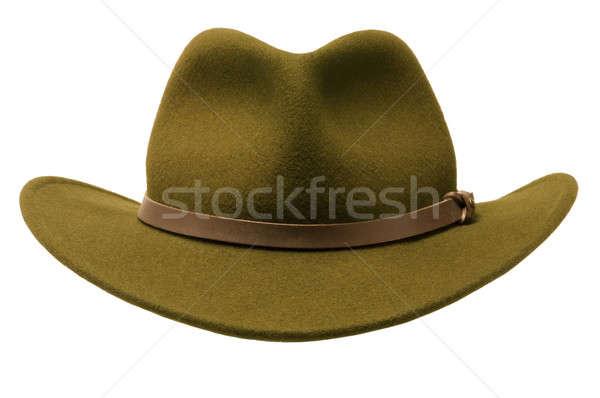 Verde Hat isolato bianco Foto d'archivio © Balefire9