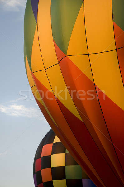 Close-up of the envelops of two hot-air balloons Stock photo © Balefire9