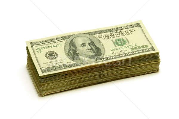 Stack of one hundred dollar bills Stock photo © Balefire9