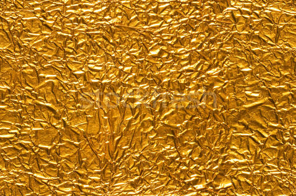Crinkled Gold Foil Background Stock photo © Balefire9