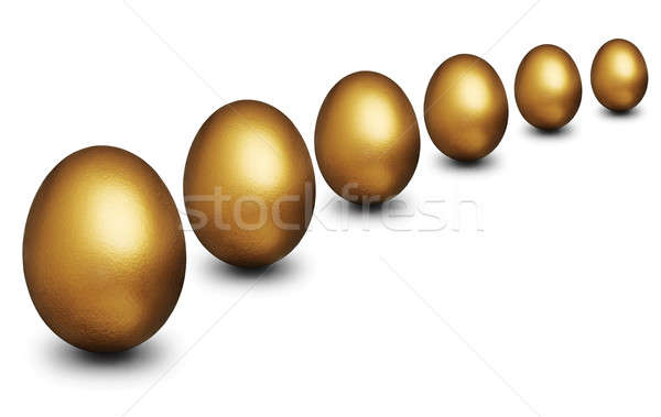Golden egg representing financial security Stock photo © Balefire9