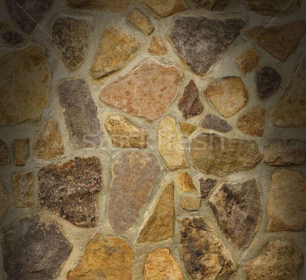 Kőművesmunka fal kövek fölött alakú Stock fotó © Balefire9