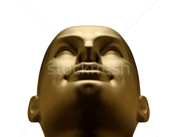 Gold mannequin head looking up Stock photo © Balefire9