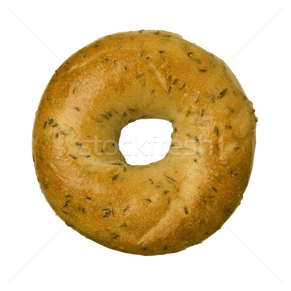 Rye Caraway Seed Bagel against White Stock photo © Balefire9