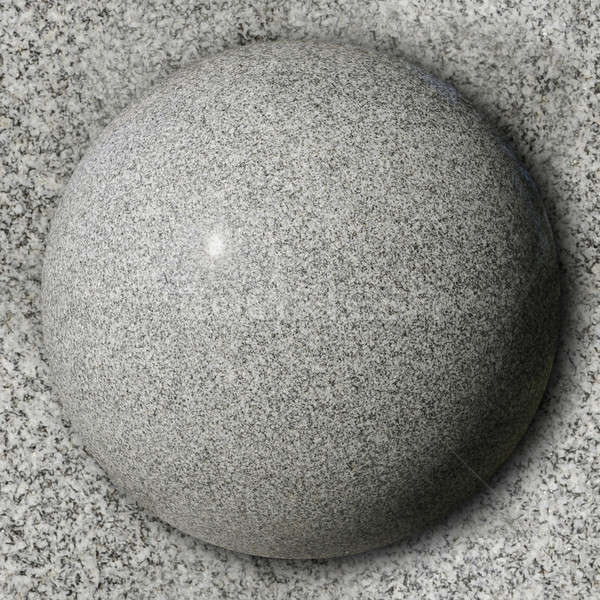 Stone sphere against polished granite surface Stock photo © Balefire9