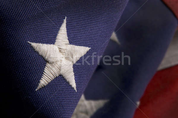 Closeup of a star on an America Flag Stock photo © Balefire9