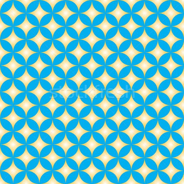 青 黄色 ダイヤモンド 星 サークル パターン ストックフォト © Balefire9