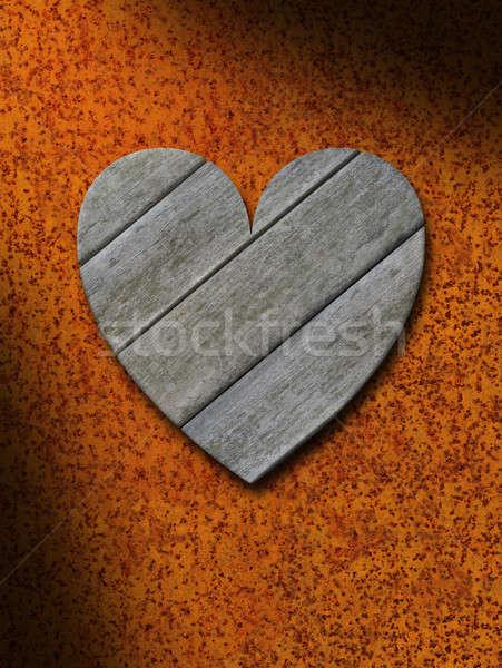 風化した グレー 木材 中心 さびた 金属 ストックフォト © Balefire9