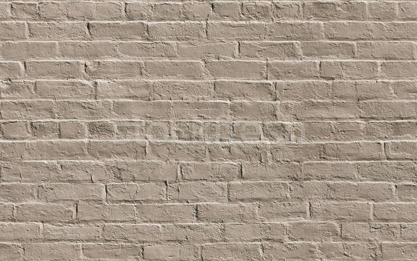 Beige painted brick wall seamlessly tileable Stock photo © Balefire9