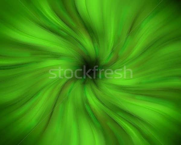 Green swirling vortex Stock photo © Balefire9