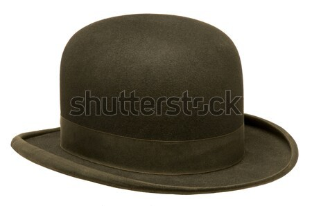 Black bowler or derby hat Stock photo © Balefire9