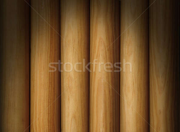 Wooden pole background texture lit dramatically Stock photo © Balefire9