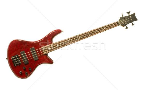 Kırmızı bas gitar beyaz yalıtılmış Stok fotoğraf © Balefire9