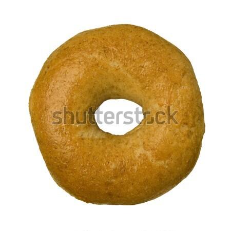 全粒小麦 ベーグル 白 孤立した 食品 パン ストックフォト © Balefire9