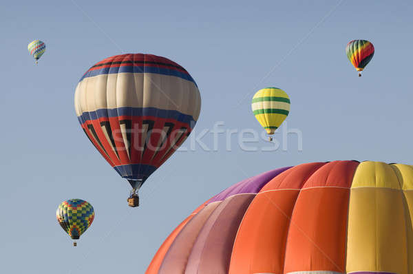 Hot-air Balloons Floating in a Blue Sky Stock photo © Balefire9