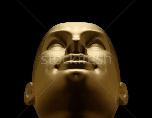 Or mannequin tête noir technologie Photo stock © Balefire9