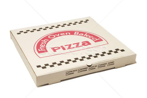 Pizza entrega caixa branco isolado Foto stock © Balefire9