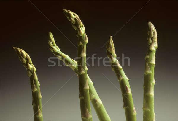 Vijf asperges zwarte voedsel plant groenten Stockfoto © Balefire9