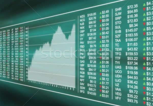 Foto d'archivio: Mercato · azionario · virtuale · display · finanziaria · prezzi