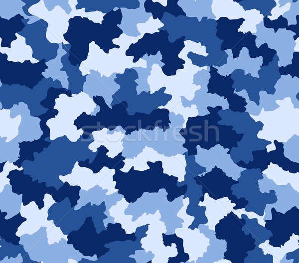 Blue camouflage seamless pattern  Stock photo © Balefire9