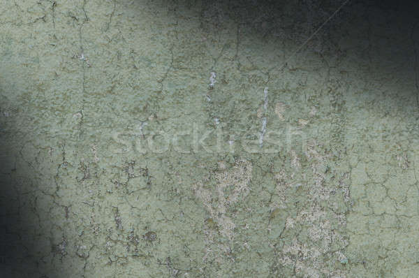 Grayish Green Weathered and Distressed Texture Lit Diagonally Stock photo © Balefire9