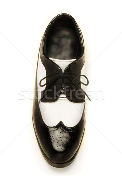 Two-tone black and white patent leather men's shoe Stock photo © Balefire9