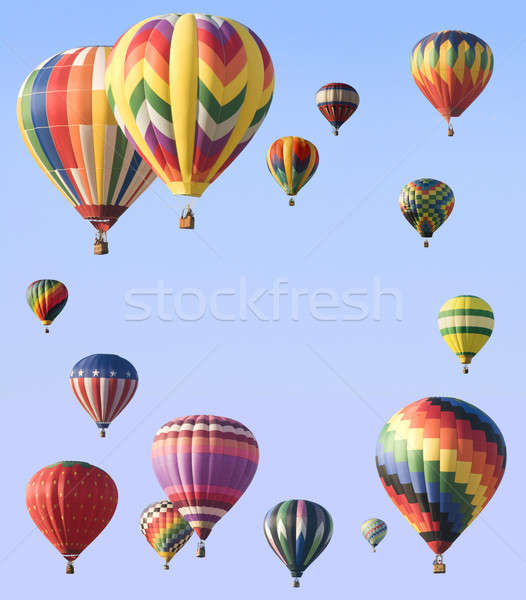 Hot-air balloons arranged around edge of frame  Stock photo © Balefire9