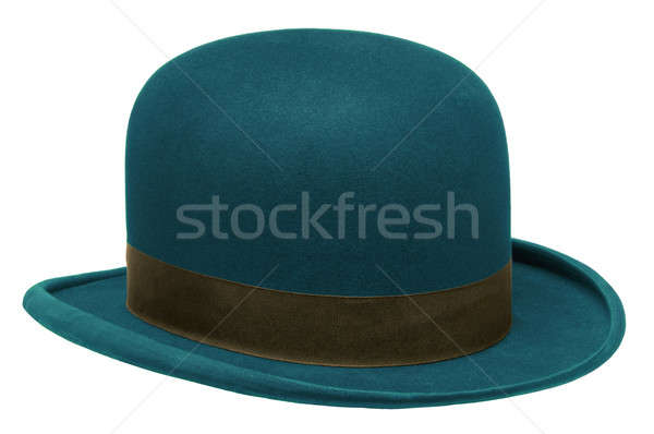 Blue bowler or derby hat Stock photo © Balefire9