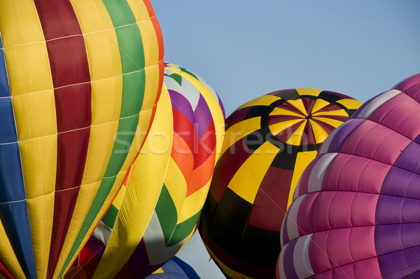 Hot-air balloons inflating Stock photo © Balefire9