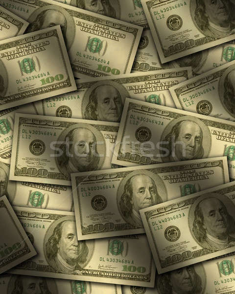 One hundred dollar bills lying flat Stock photo © Balefire9