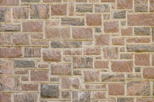 Reddish masonry block wall Stock photo © Balefire9